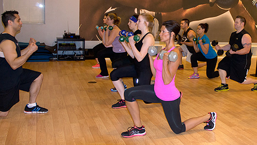 Body Sculpting classes typically combine elements of weight and resistance training with elements of an aerobics/cardio class