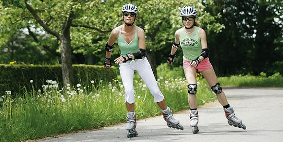 Skating is a great way to improve lateral muscle strength and get a good aerobic workouit