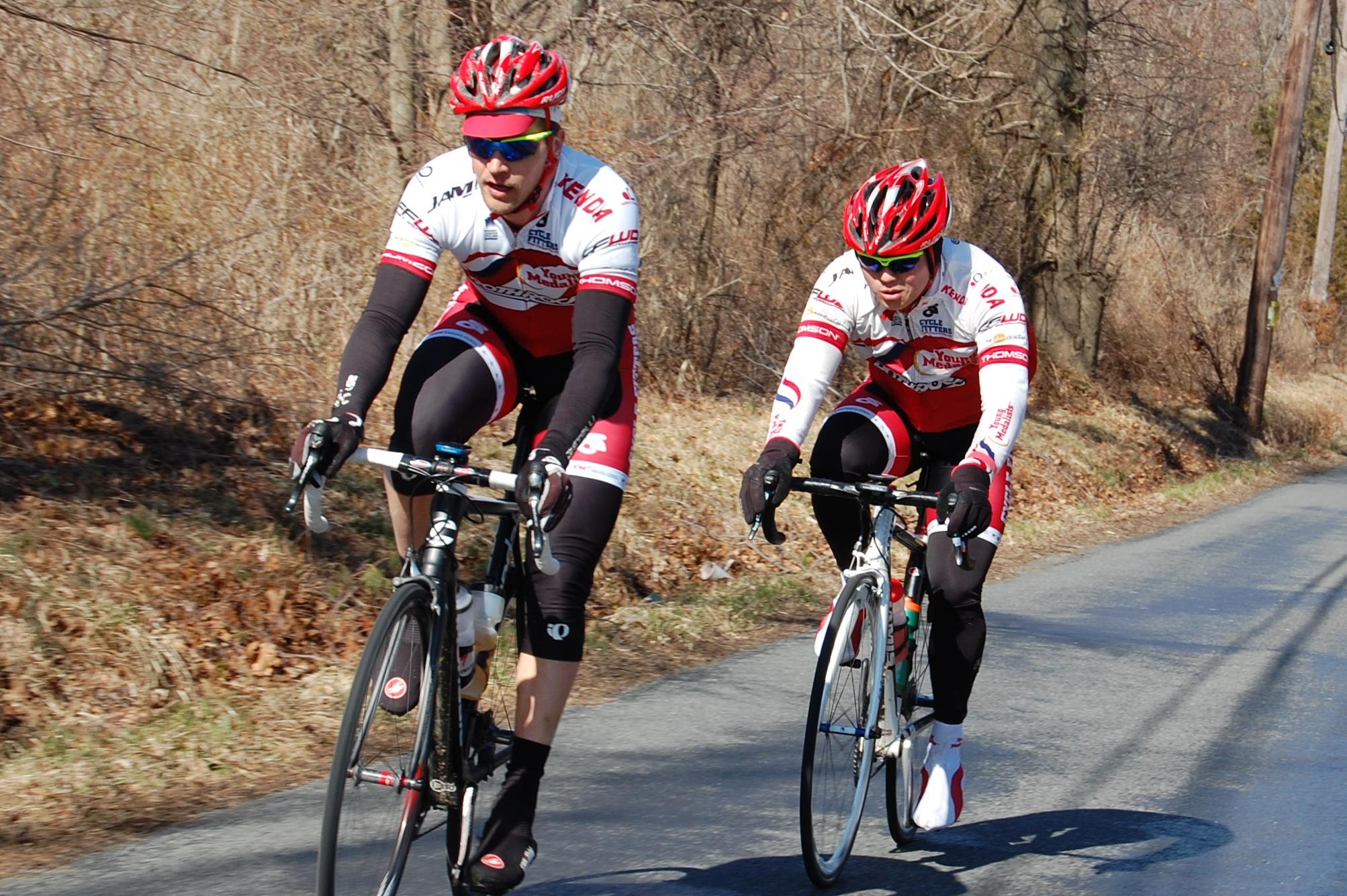 Zach and I riding at the Hell of Hunterdon