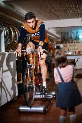 Including rollers in your indoor training regimen can help with leg speed, balance and concentration. If you're Eddy Merckx, it might also be a the perfect time to have a talk with your daughter…