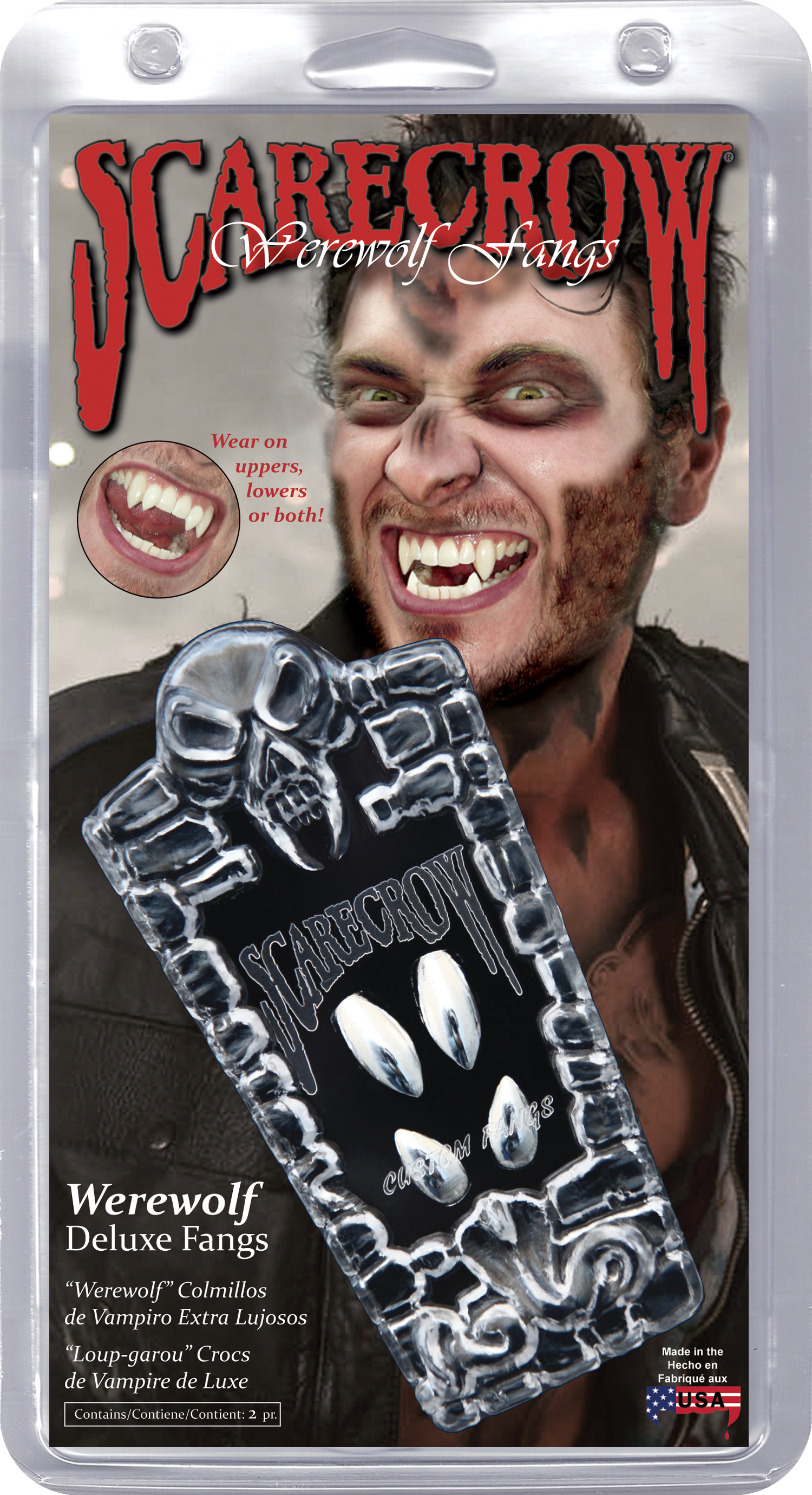 Chrome Werewolf Deluxe Custom Fangs (GLMWF107)