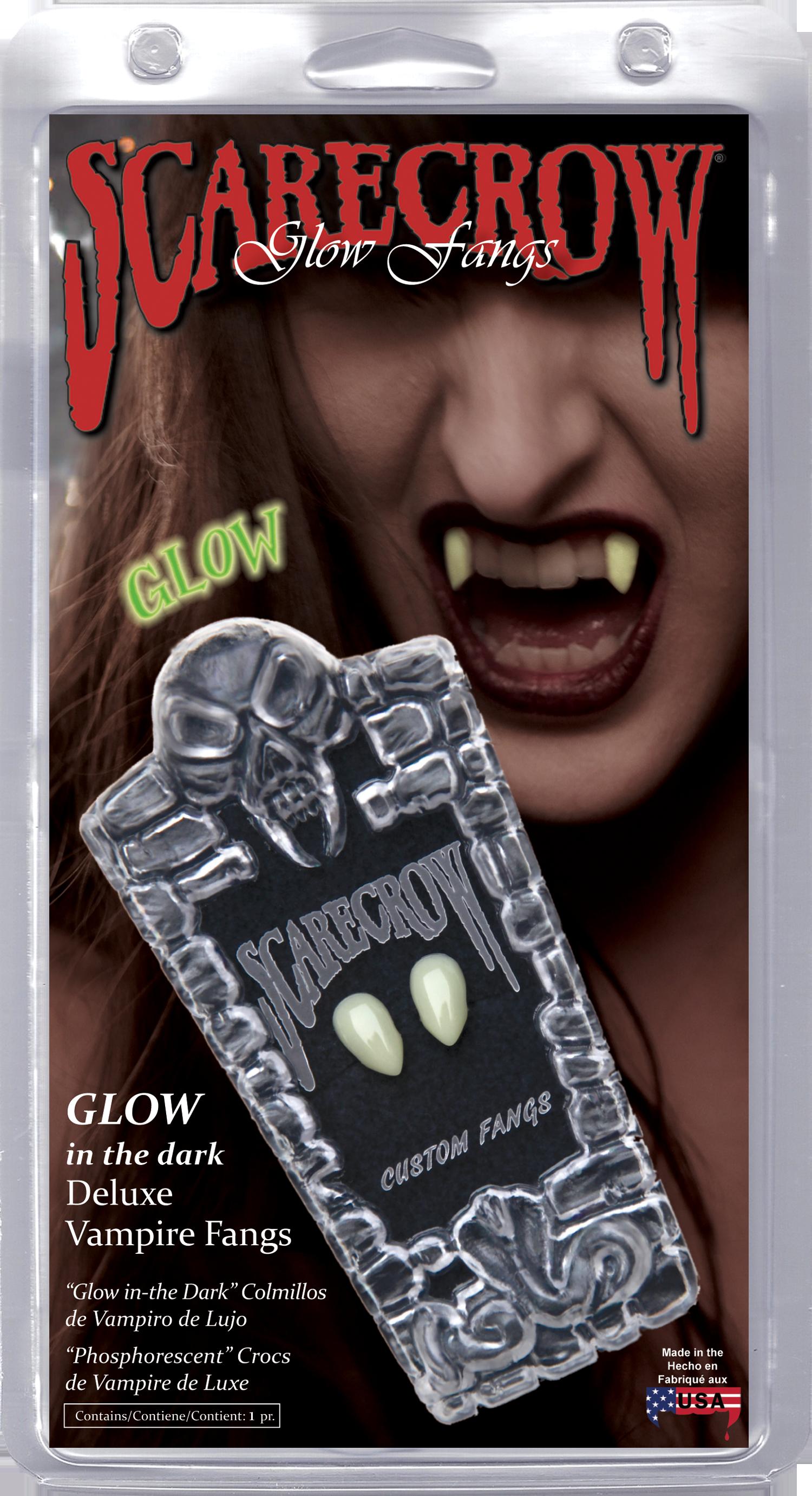 Small Glow-in-the-Dark Deluxe Custom Fangs (GLSSK)