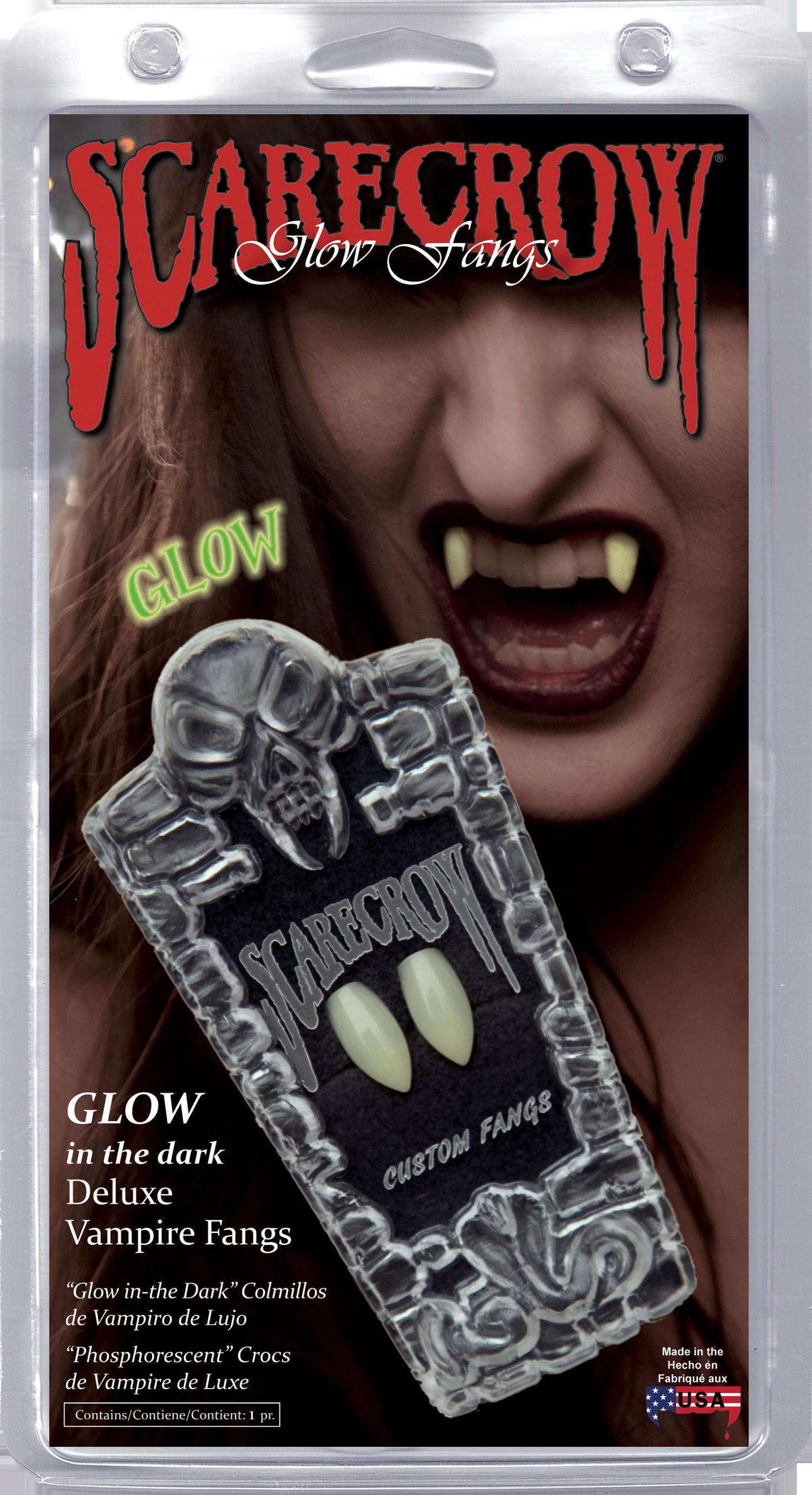 Classic Glow-in-the-Dark Deluxe Custom Fangs (GL101)