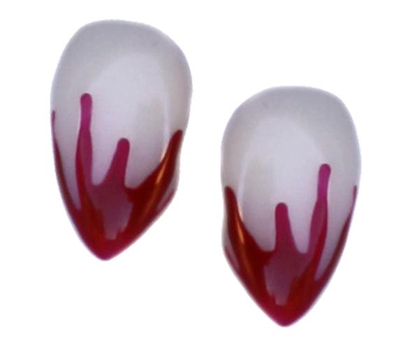 Small Blood Tip Deluxe Custom Fangs (BTSSK200)