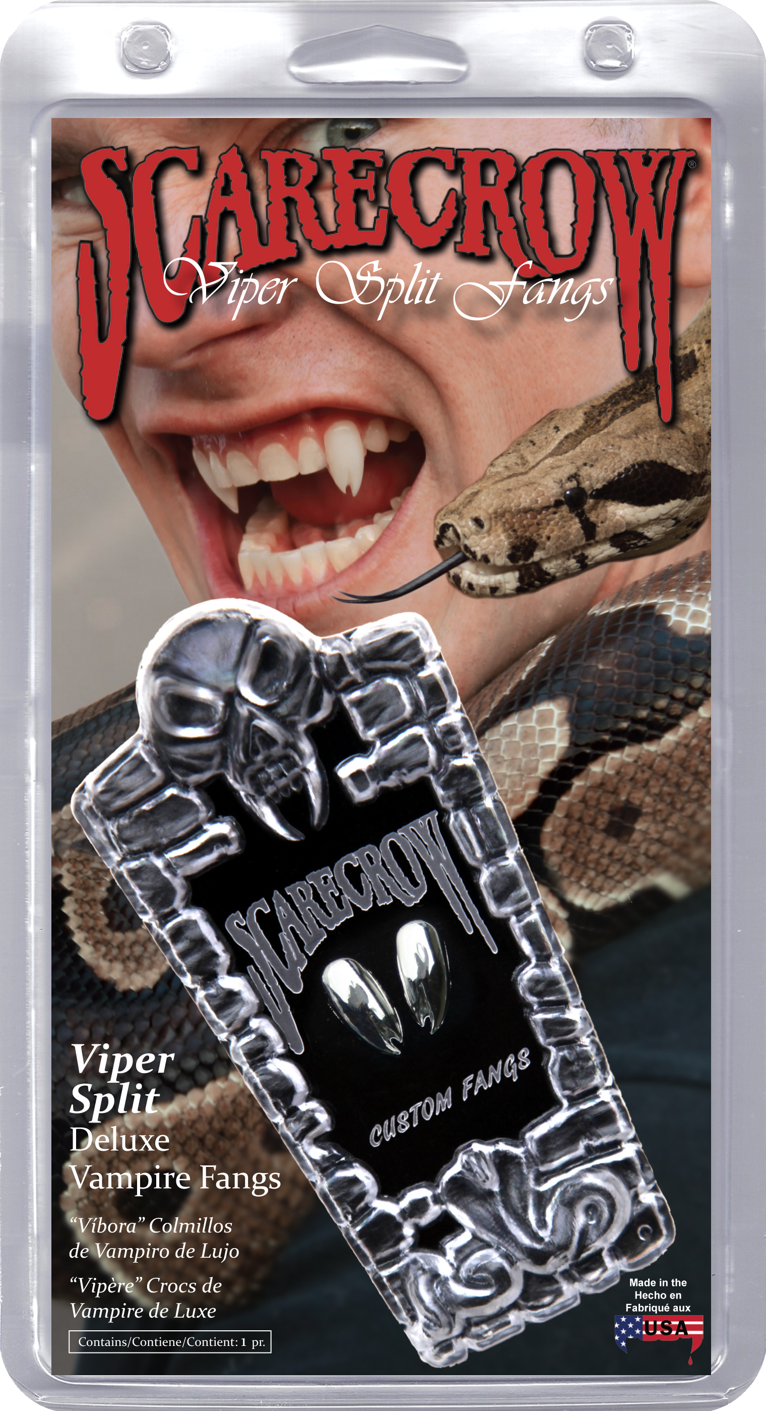 Chrome Viper Split Deluxe Custom Fangs (GLMVF600)