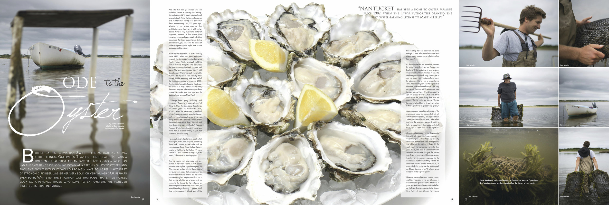 """""""Ode to the Oyster"""", REVIEW Nantucket, Spring 2017"""