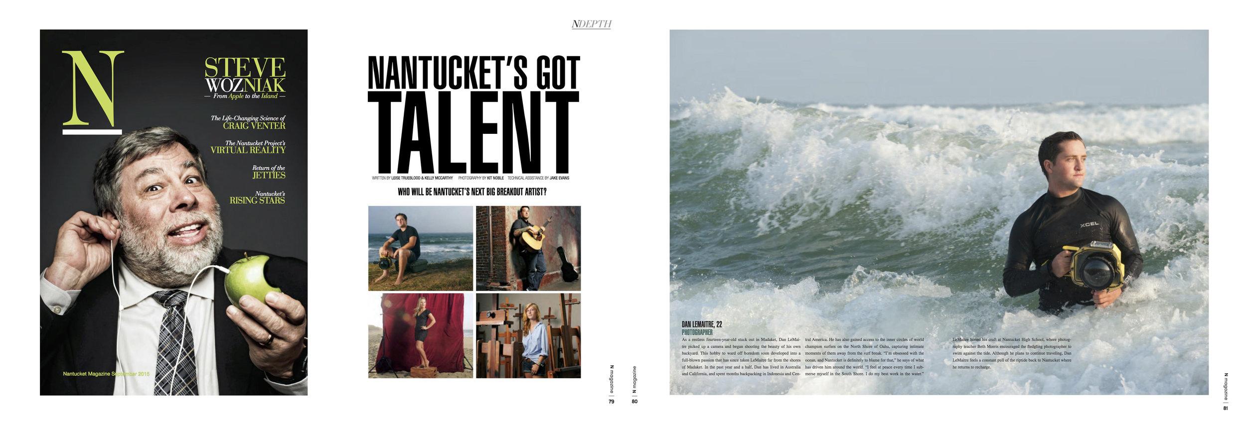 """Nantucket's Got Talent"", N Magazine, September 2015"