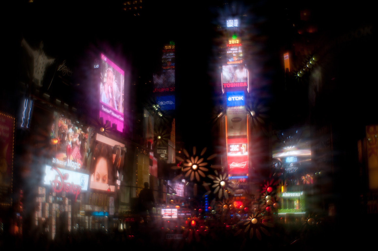 Lensbaby at Times Square