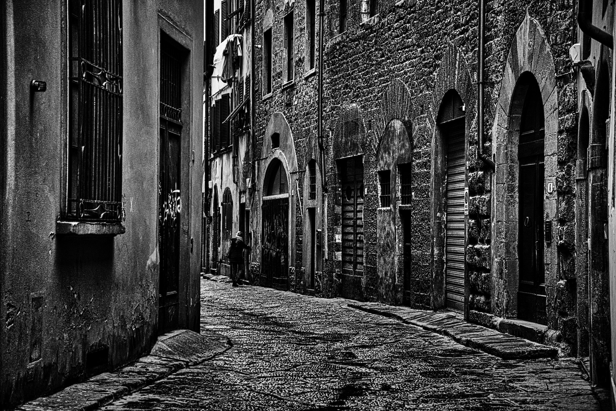 Florence side street in the rain