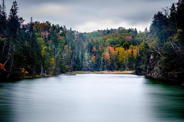Fall colour at Halls Harbour, Nova Scotia. #hallsharbour #novascotia #longexposure #fall #autumn #fujifilm #fujifilmxt1