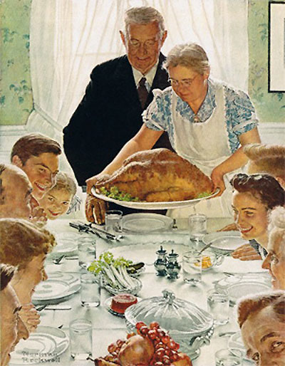 thanksgiving Norman Rockwell
