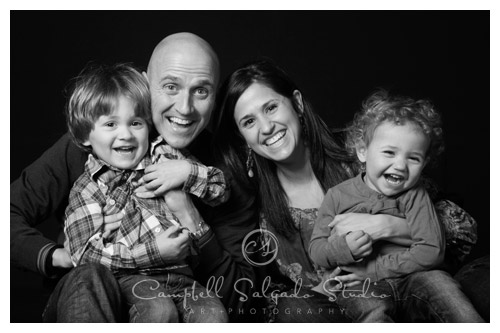 family portrait by family photographers at Campbell Salgado Studio