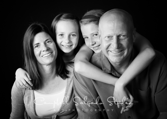 Family black and white photography by Campbell Salgado Studio in Portland, Oregon.