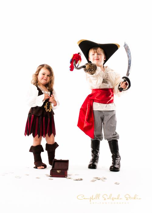 Halloween costume photography by Campbell Salgado Studio, Portland, Oregon. Pirate kid costumes ideas.