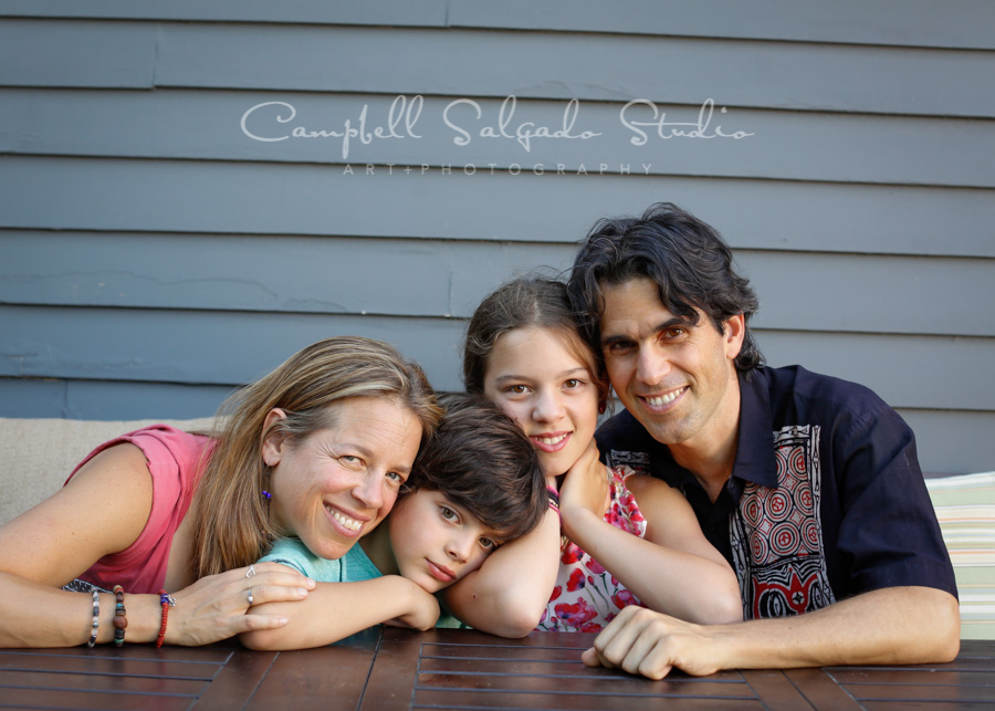 Portrait of family vignettes session by family photographers at Campbell Salgado Studio in Portland, Oregon.