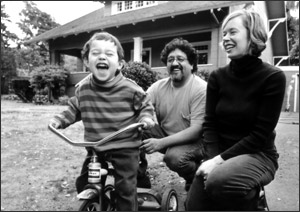 Kim Campbell, Francisco Salgado, 2004 portrait with son in Portland, OR