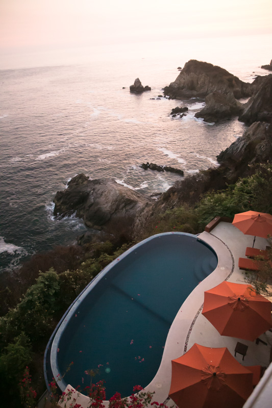 Cliff side pool at our rental. Divine!