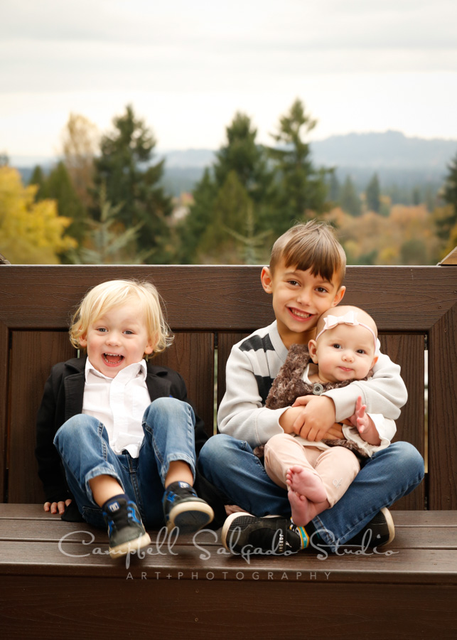 Portrait of children at Vignettes session by child photographers at Campbell Salgado Studio in Portland, Oregon.