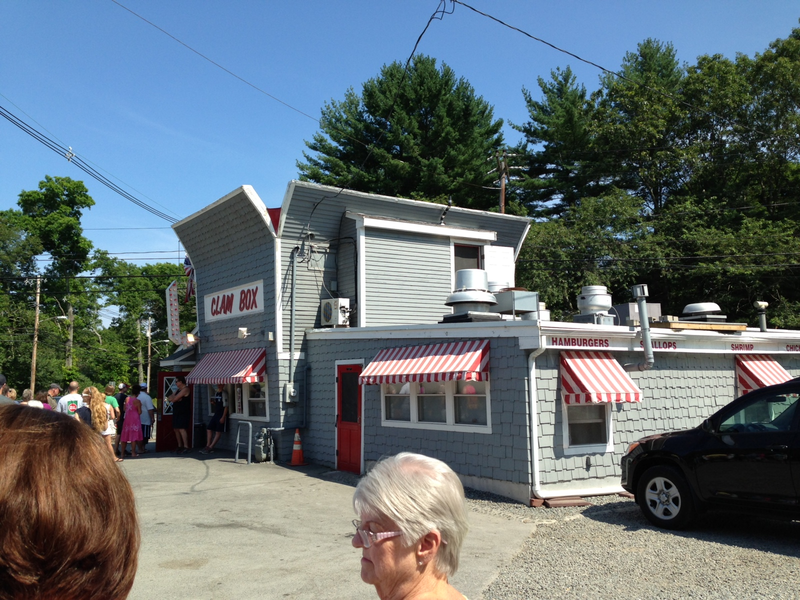 The Clam Box of Ipswitch, MA; an interesting hybrid of the Duck vs the Decorated Shed debate.