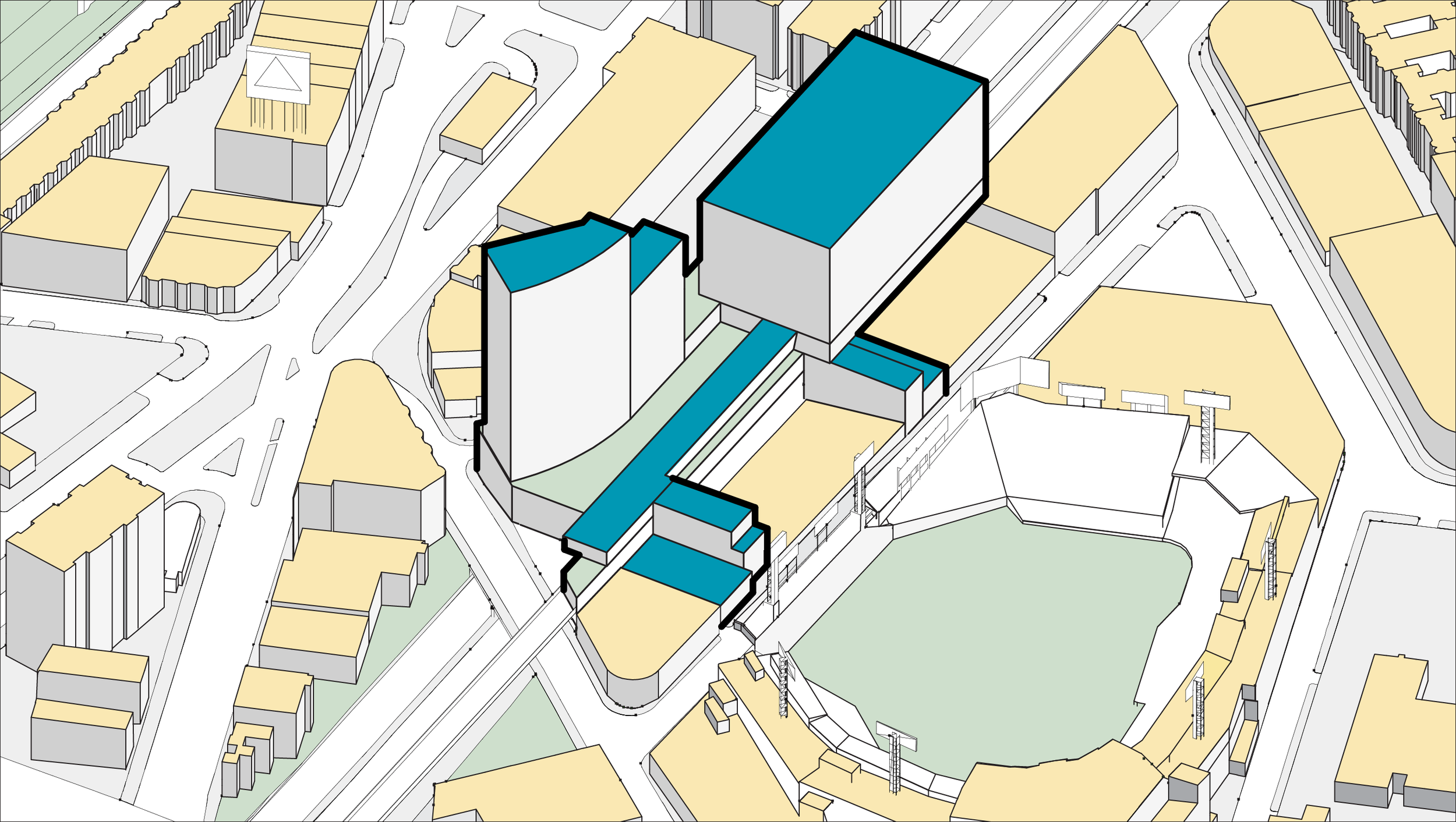 Urban Context Axonometric