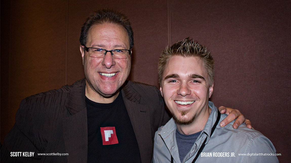 """Brian Rodgers Jr. and Scott Kelby at his """"Shoot Like a Pro Seminar"""" - Chicago 2013"""