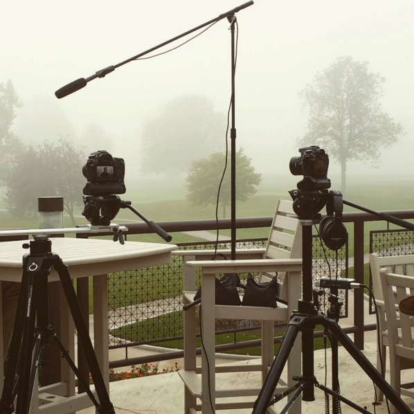 Behind the scenes on location with Brian Rodgers Jr. Filming interviews in Fort Wayne, Indiana