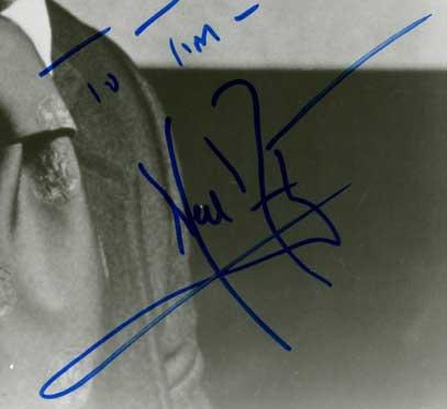 Signed photo, 1992