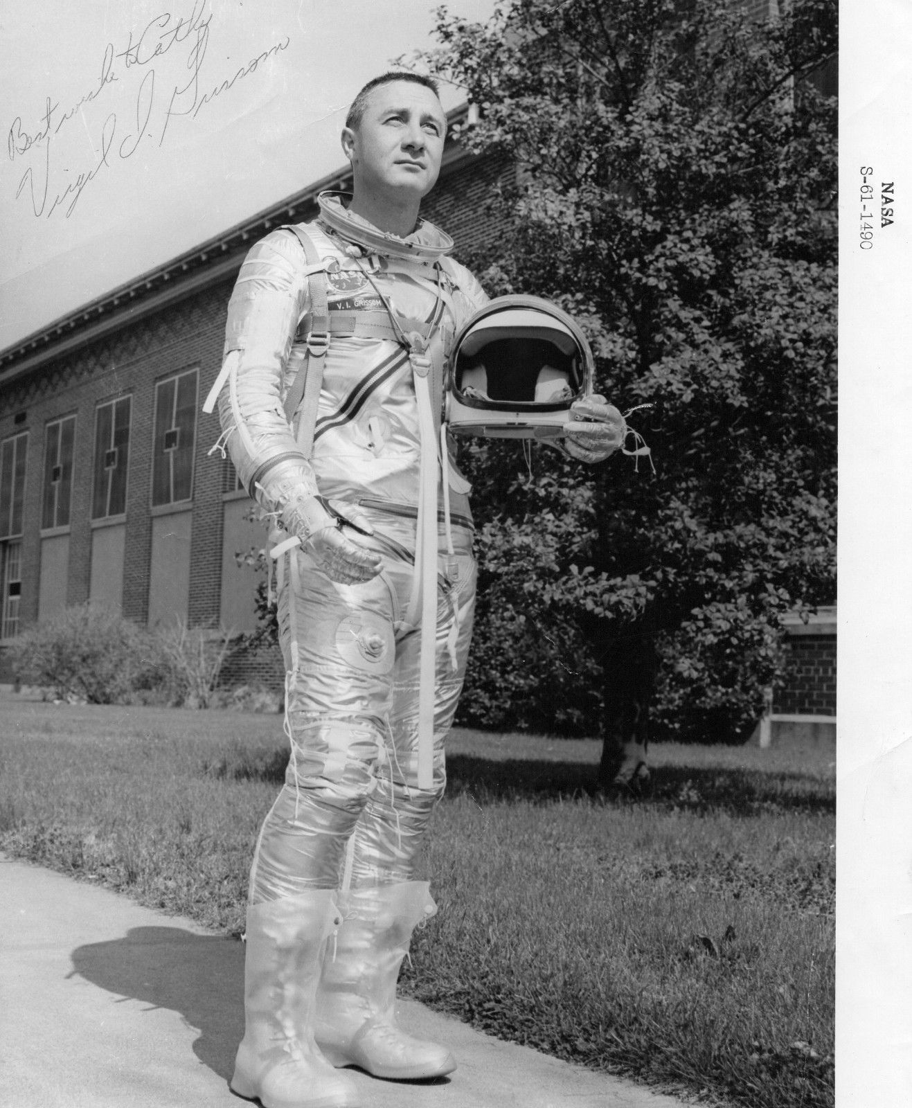 Unique Gus Grissom signed NASA photograph