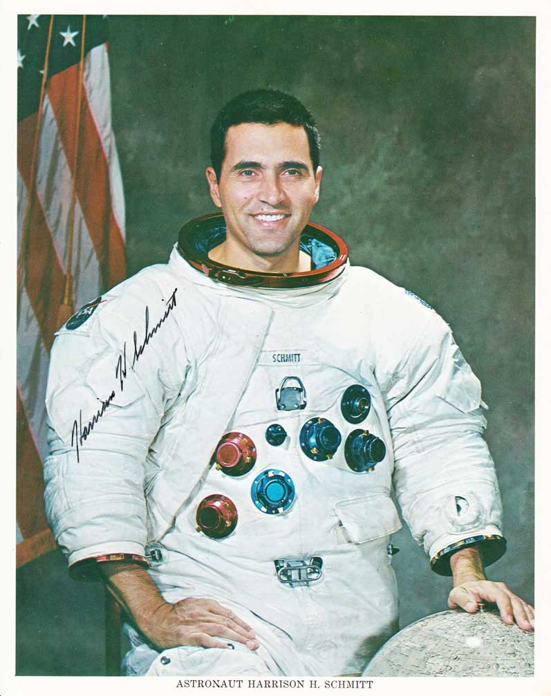 Harrison Schmitt signed NASA lithograph, early 1970s.