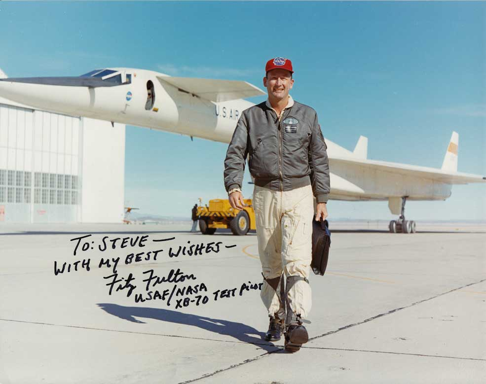 Fitz Fulton with the XB-70