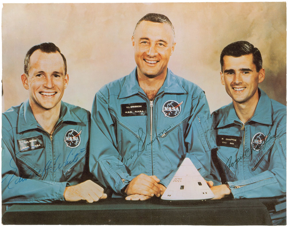 Signed Apollo 1 crew lithograph from RR Auction Spring 2015 Space Auction