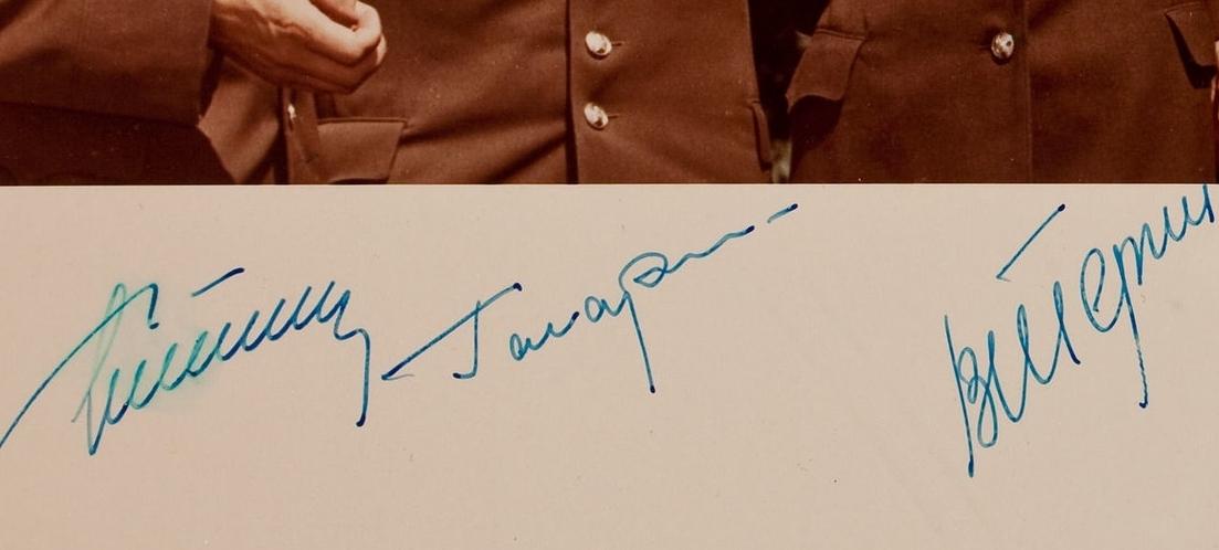 Cosmonaut multi-signed photo