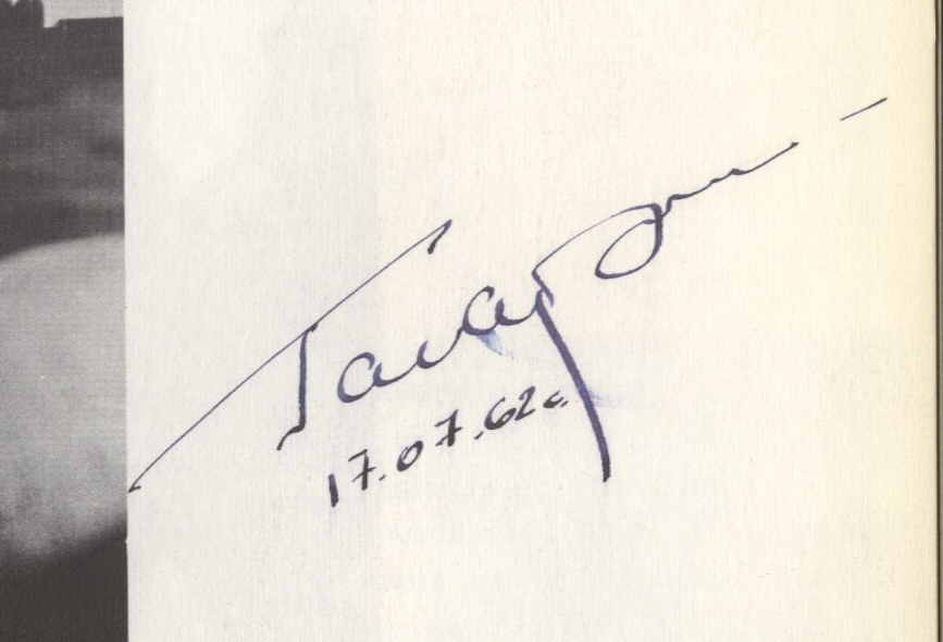 Yuri Gagarin Forgery with a drawn appearance