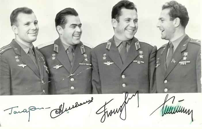 Cosmonaut multi-signed photograph, 1963