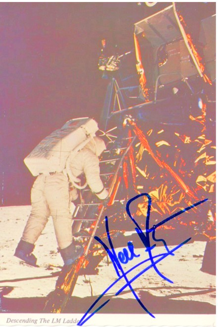 This is the kind of Armstrong autograph that sells on the cheap -- a bad fake.