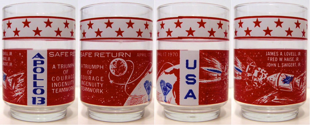 Apollo 13 Libbey glass - reverse ink error variant
