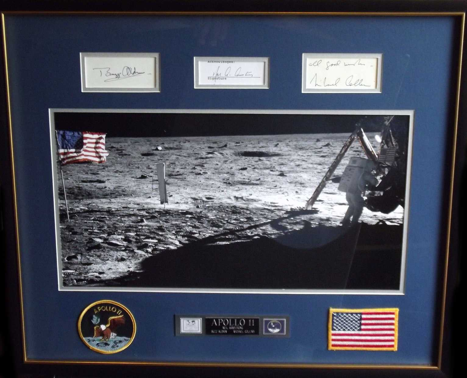 Apollo 11 signature display