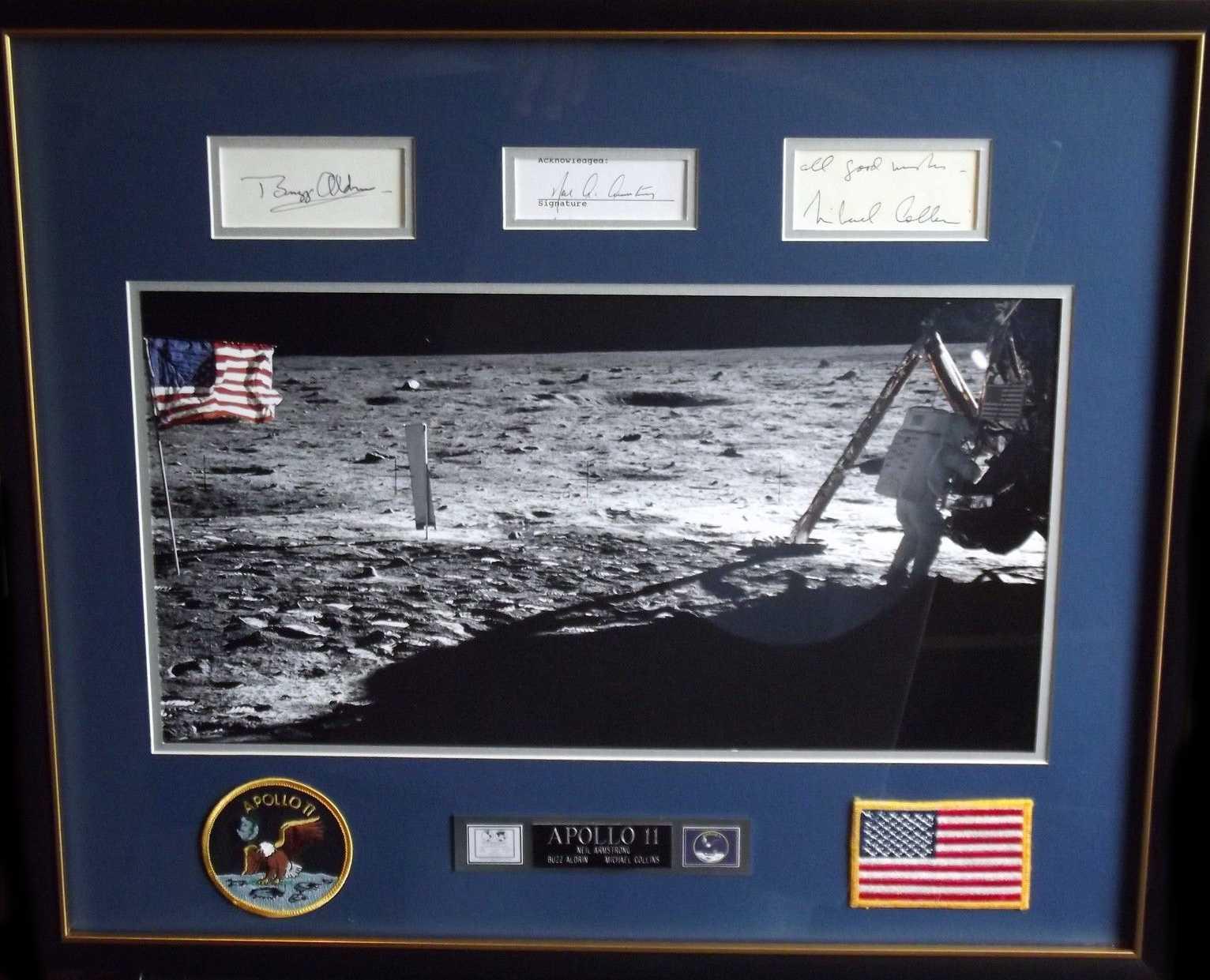 Apollo 11 signature display