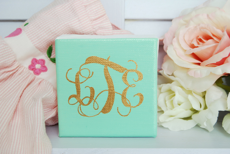 Simply Jessica Marie Feature on Primrose Mag | Mint Monogrammed Canvas