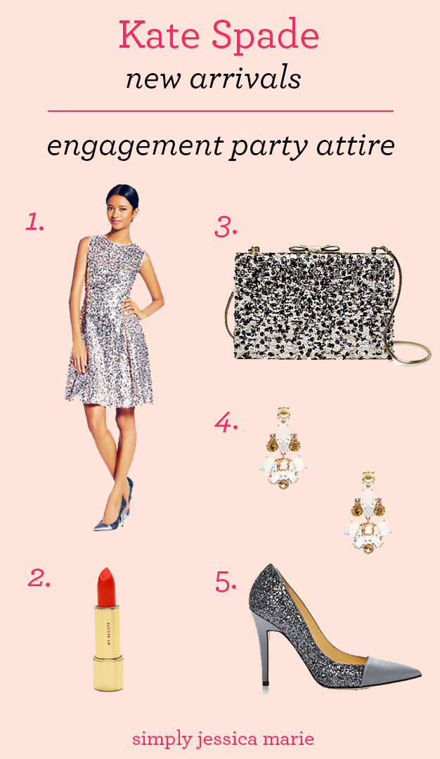 Kate Spade New Arrivals Engagement Party Attire | Simply Jessica Marie