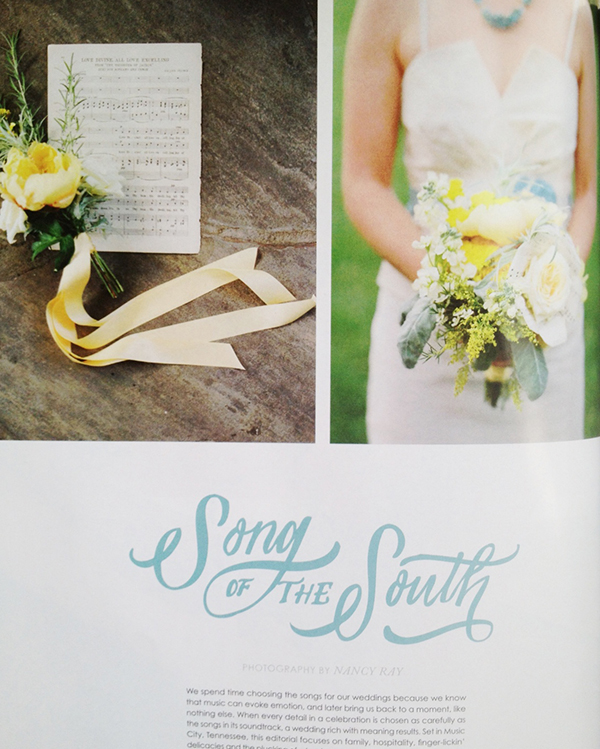 Amber Housley Featured in Southern Weddings V6 Song of the South