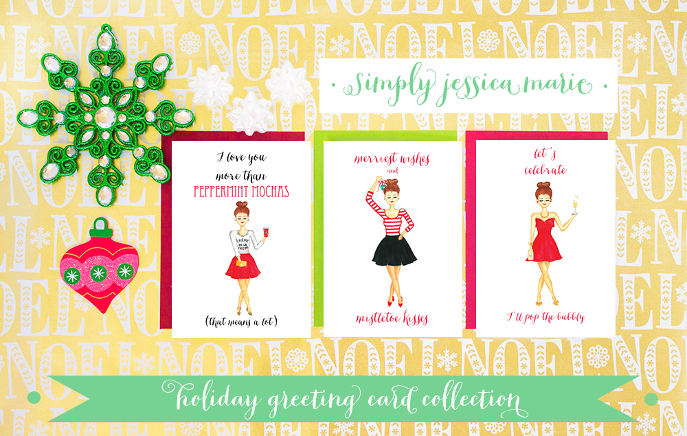 Holiday Greeting Cards Trio by Simply Jessica Marie