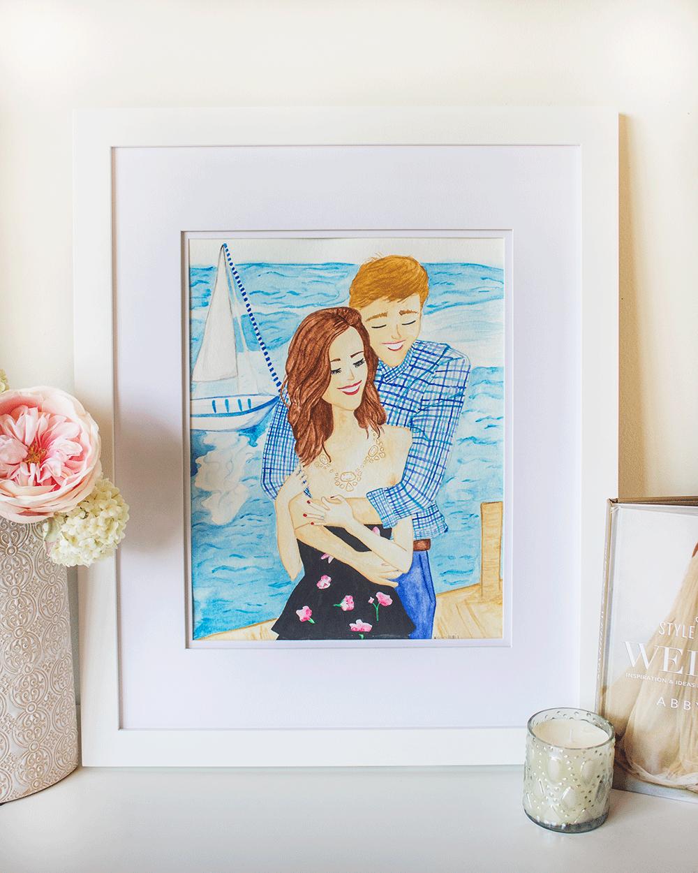 Custom Watercolor Wedding Paintings by Simply Jessica Marie
