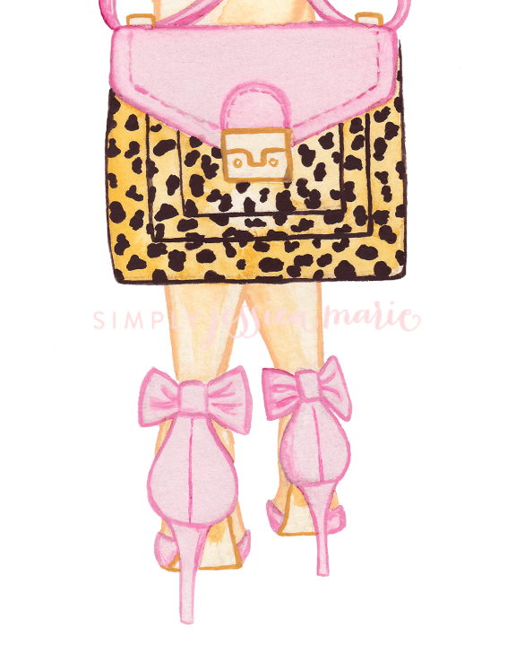 Blushing Leopard Illustration by Simply Jessica Marie
