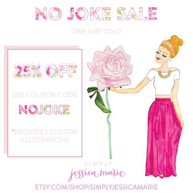 Simply Jessica Marie No Joke Sale