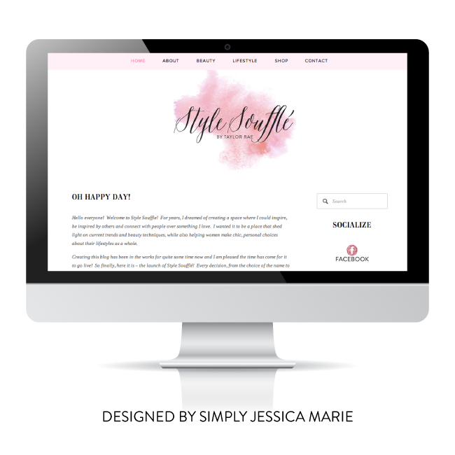 Style Souffle Custom Brand and Site Design by Simply Jessica Marie