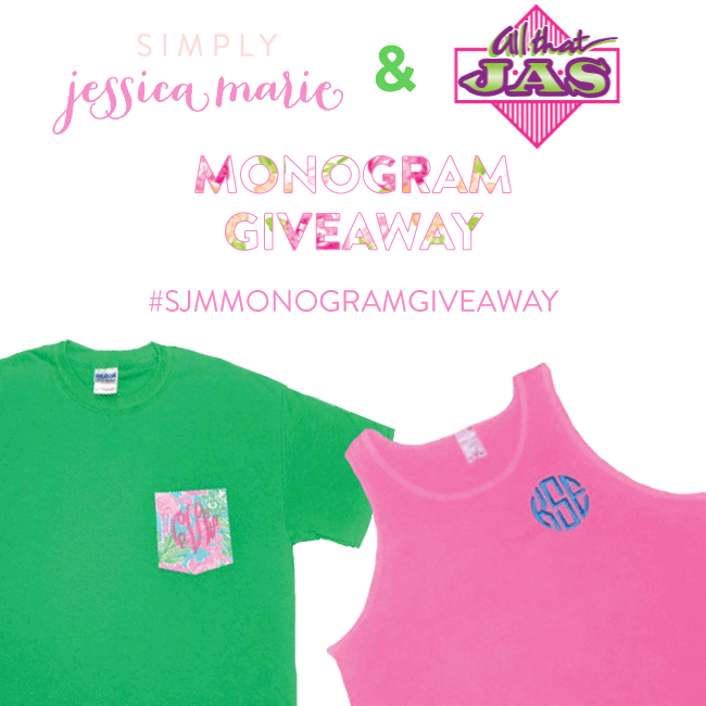 Simply Jessica Marie and All that JAS Monogram Giveaway