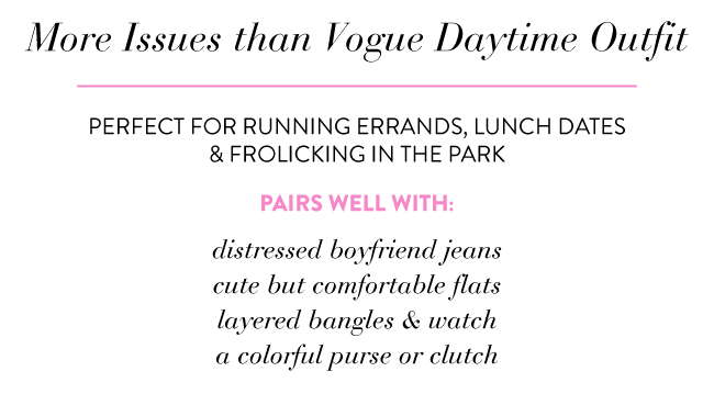 More Issues Than Vogue Daytime Outfit | Simply Jessica Marie