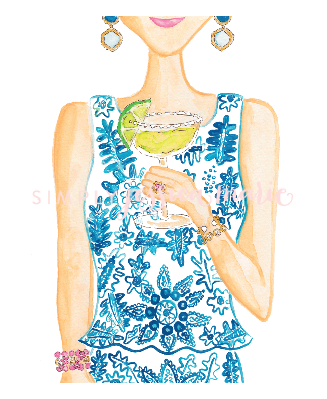 Margarita Girl Art Print by Simply Jessica Marie