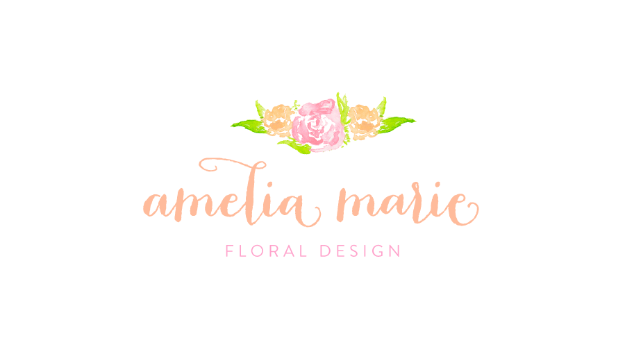 Pre Designed Watercolor Floral Logo by Simply Jessica Marie